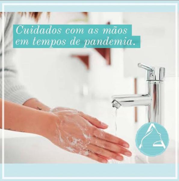 Cuidados com as mãos em tempo de pandemia.
